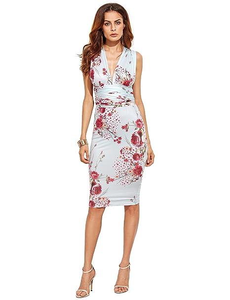SheIn - Vestido - Estuche - Sin mangas - para mujer multicolor multicolor Large