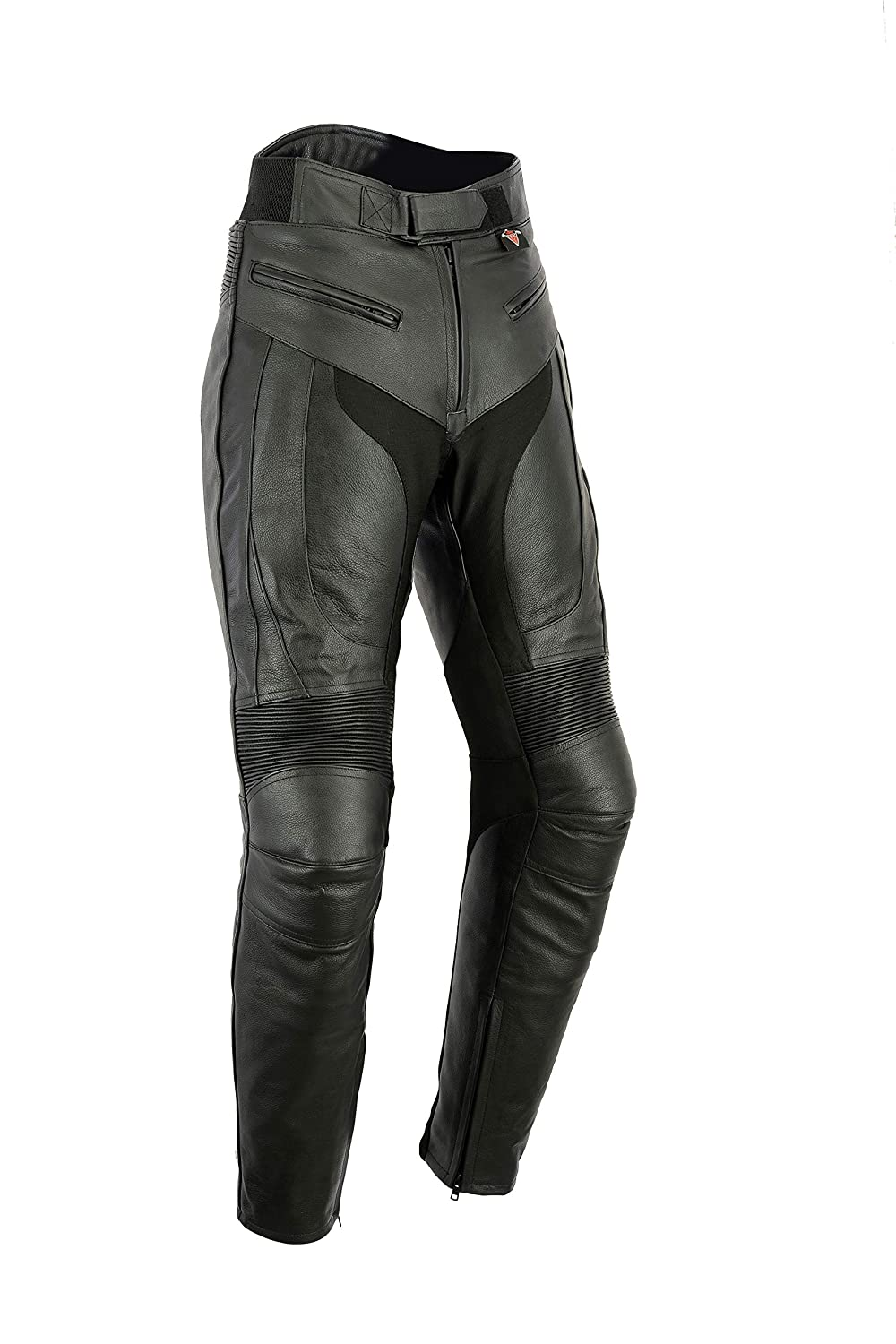 Texpeed Mens RS Sports Leather Motorcycle Trousers With Removable Armour All Sizes
