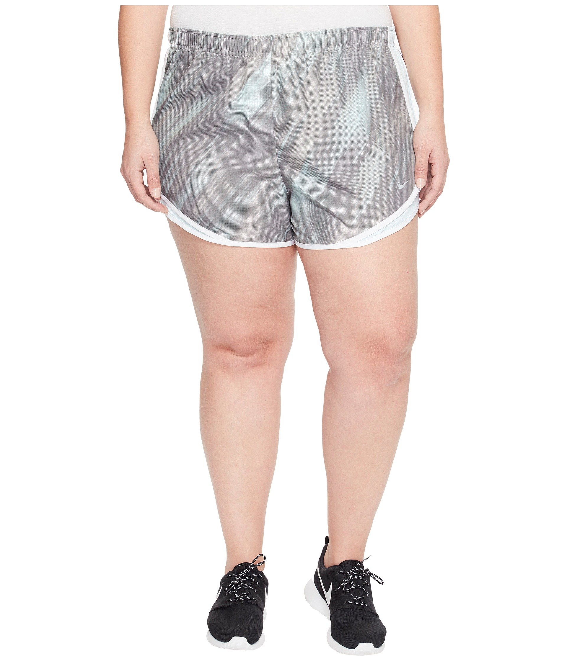 Nike Dry Tempo 3 Print Running Short Size 1X-3X Dust/Glacier Blue/White/Wolf Grey Women's Shorts by Nike