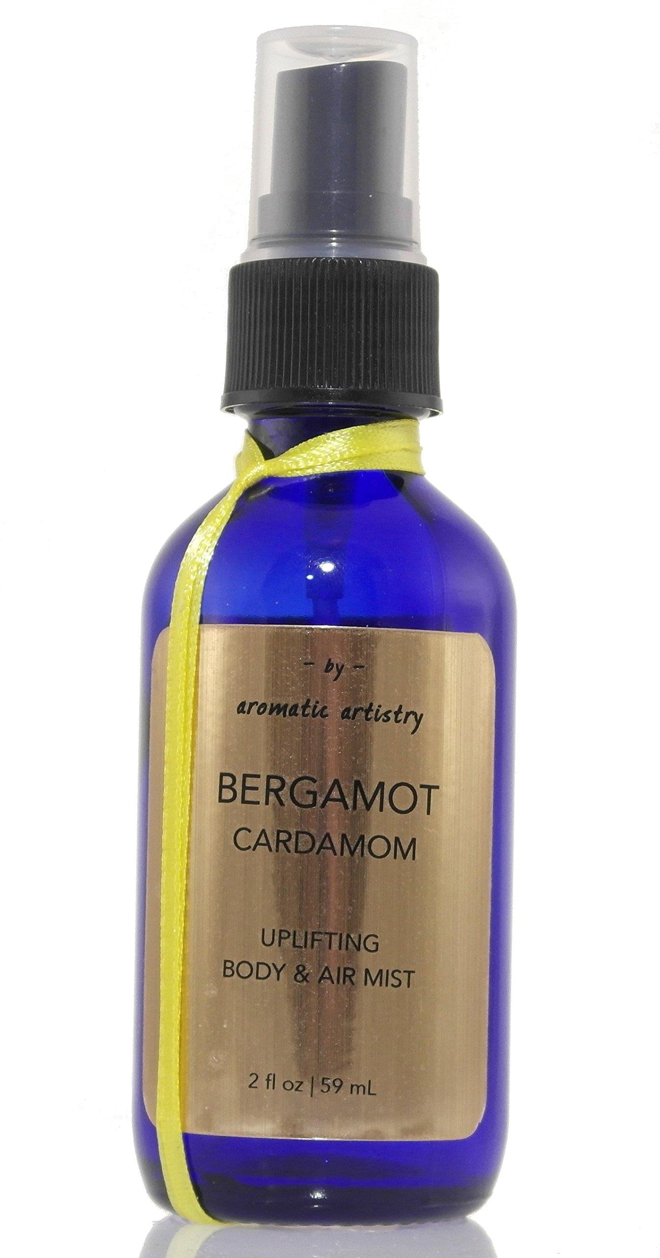 Air & Body Mist - Mood Uplifting - Bergamot || Cardamom 100% ALL NATURAL Therapeutic Grade Premium Essential Oils