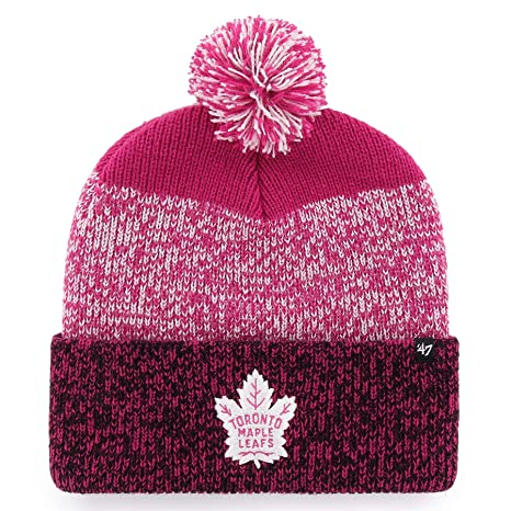 41dea81a434 Image Unavailable. Image not available for. Color: '47 Toronto Maple Leafs  Women's NHL Pink Static Cuff Knit Hat