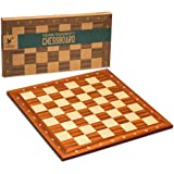 Husaria Magnetically Assembled Professional Staunton Tournament Chess Board, No. 5, 18.9 Inches