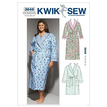 Amazon.com: Kwik Sew K3646 Robes Sewing Pattern, Size 1X-2X-3X-4X