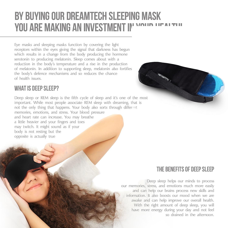 MÁSCARA PARA DORMIR DE GEL DreamTECH® con tapones para los oídos gratis, conjunto de 1 pieza.: Amazon.es: Equipaje