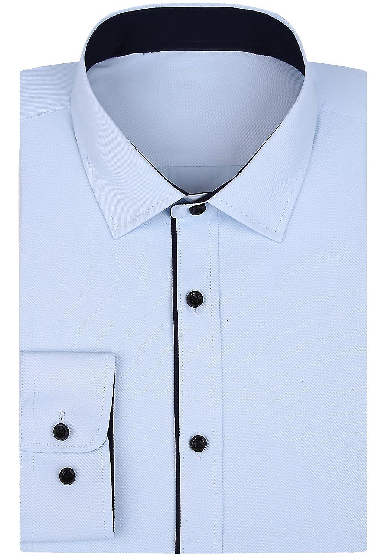 Alimens Gentle Mens Long Sleeve Single Cuff Regular Fit Dress