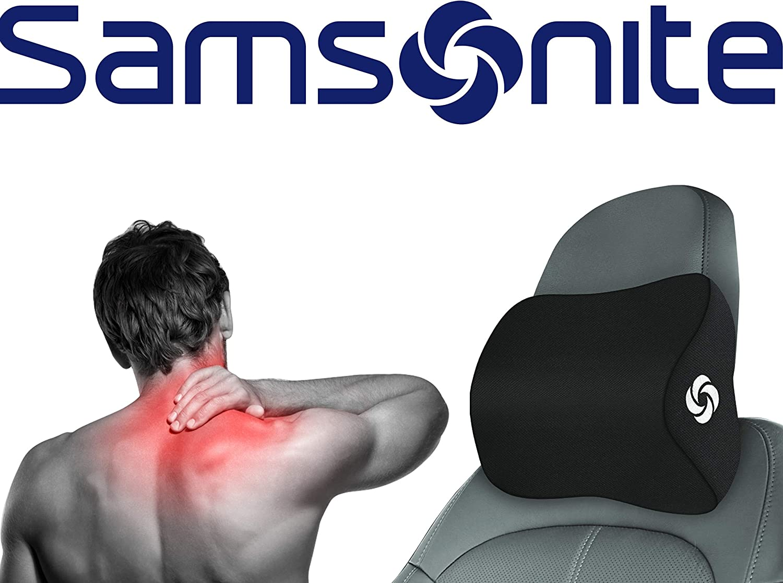 Samsonite SA5942 \ Travel Neck Pillow for Car, SUV \ Helps Relieve Neck Pain \ 100% Pure Memory Foam