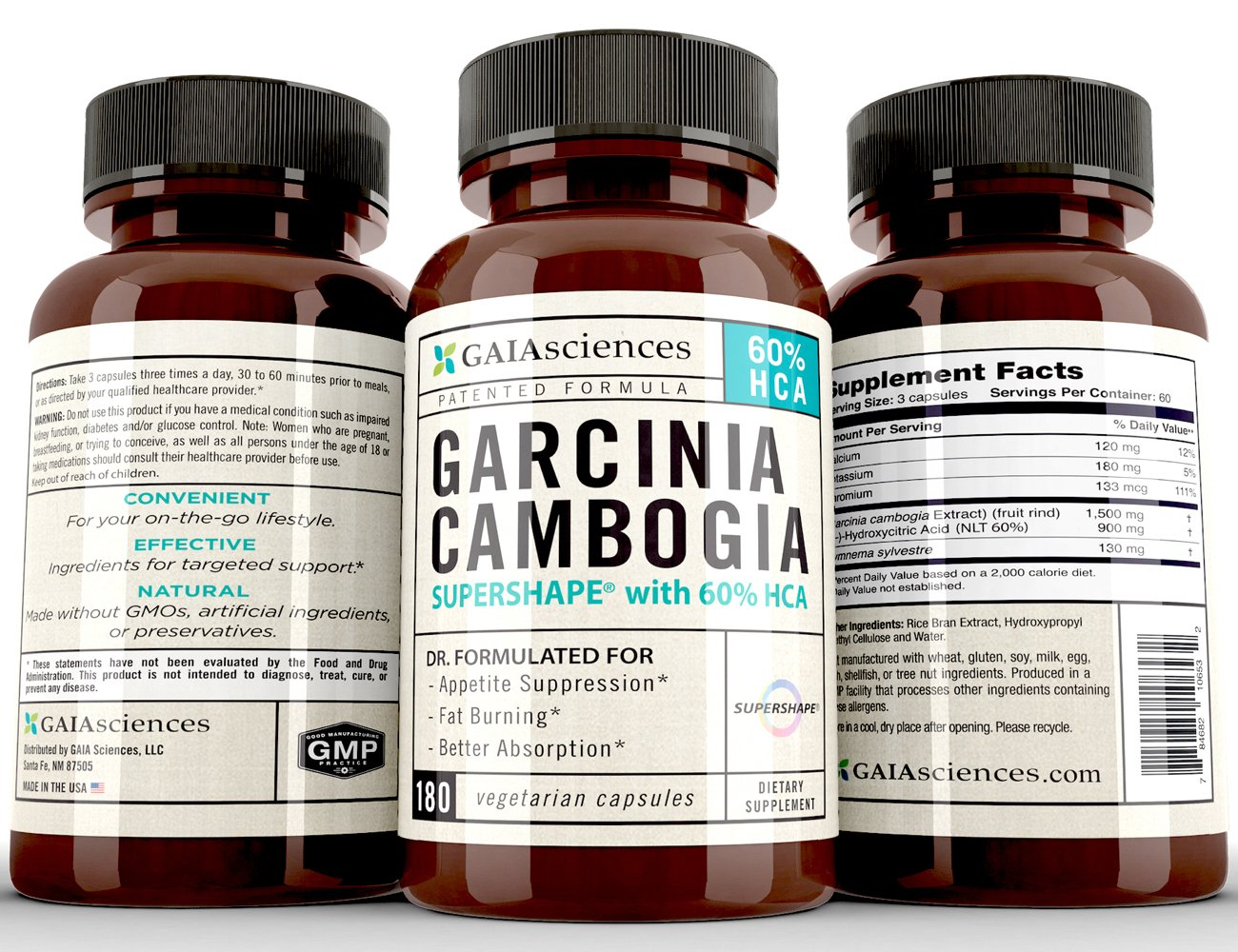 Gaia Sciences Garcinia Cambogia Super CitriMaxつ Scientifically Proven Patented Formula for Appetite Suppression & Fat Metabolism by GAIAsciences B00RZTK0Q8