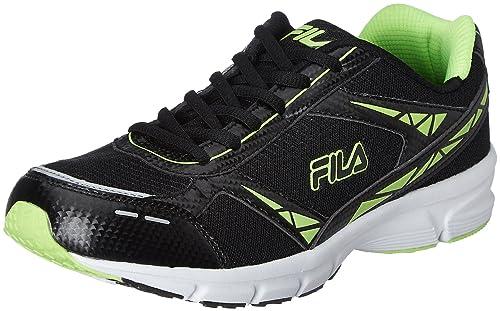914435ea23a Fila Men s Lite Runner Plus 4 Black and Lime Running Shoes - 10 UK India