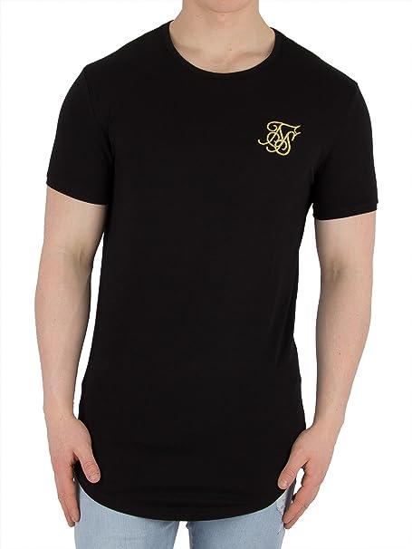 Sik Silk Camiseta Siksilk – S/s Gym Negro/Dorado Talla: XL (