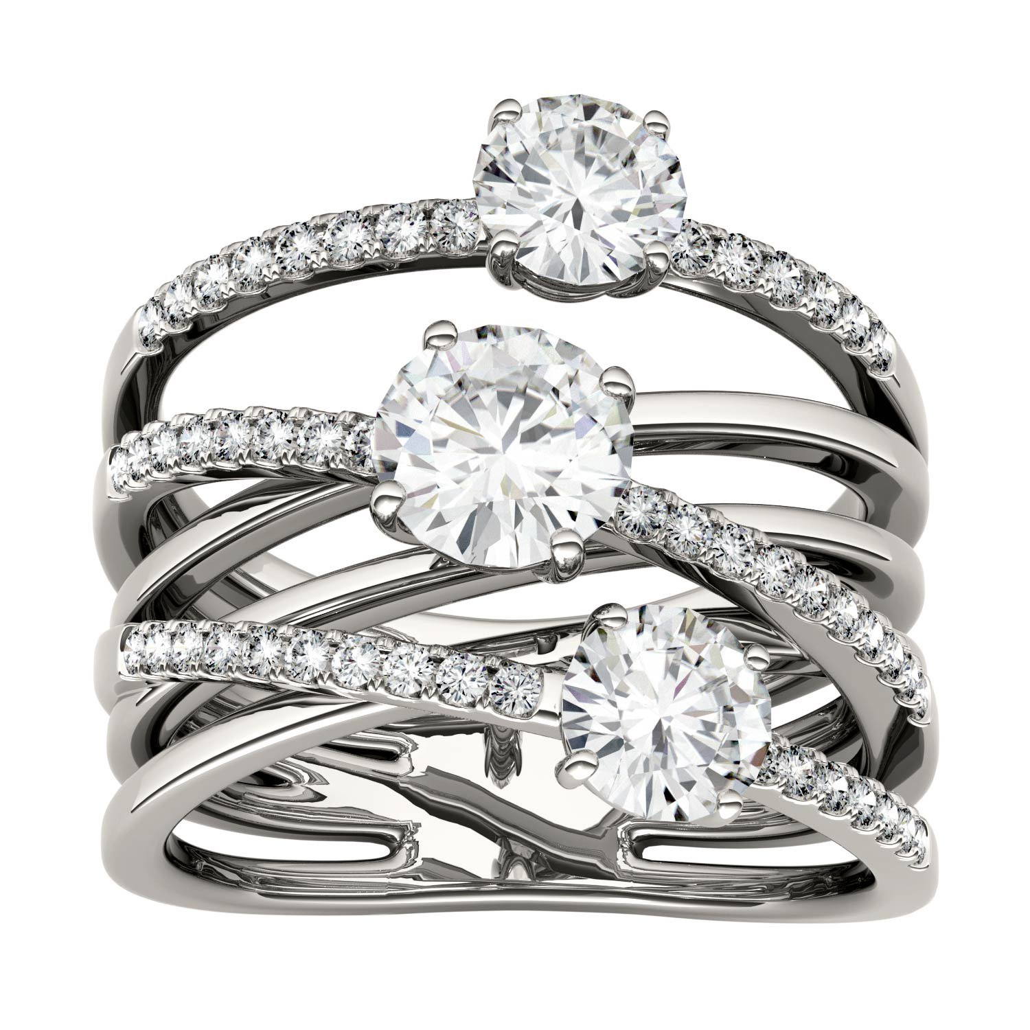 Forever Brilliant Round 6.0mm Moissanite Band Style Ring-size 6, 2.28cttw DEW By Charles & Colvard by Charles & Colvard