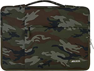 MOSISO Laptop Sleeve Compatible with 13-13.3 inch MacBook Air, MacBook Pro, Notebook Computer, Polyester Pattern Multifunctional Briefcase Carrying Bag, Army Green Camouflage