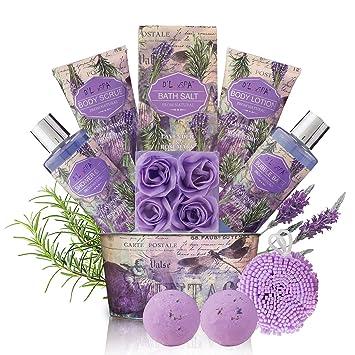 Amazon.com: Set de regalo de baño relajante para mujer ...
