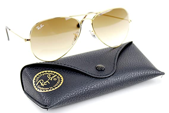 a138aa9f58367 spain ray ban rb3025 001 51 unisex aviator sunglasses gradient gold frame  light 0fd1f ef41e