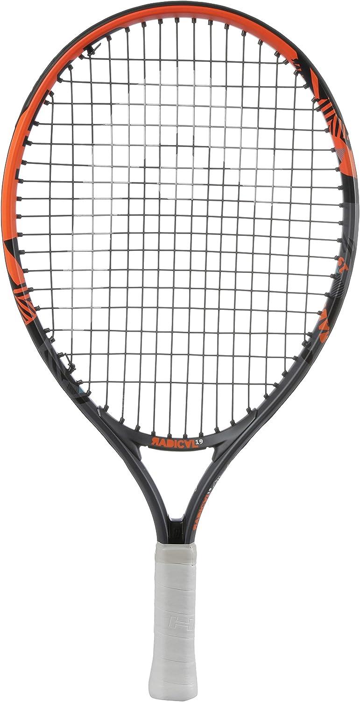 Head Radical Jr - Raqueta de tenis, color negro/ naranja, talla 19 ...