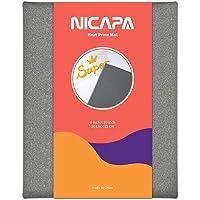 Nicapa Heat Press Mat for Cricut Easypress(8x10 inch) Craft Vinyl Ironing Insulation Transfer Heating Mats for Heat…