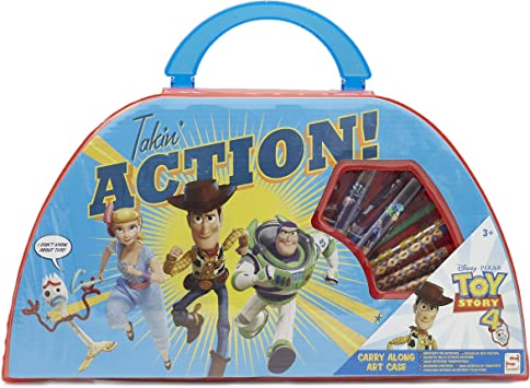 Disney Toy Story 4 Estuche De Arte Infantil Pixar   Maletín De Colores para Niños  