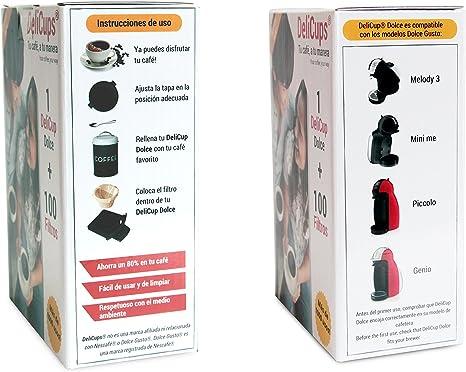 DeliCups Dolce - Cápsula reutilizable para cafeteras Dolce Gusto - Miles de cafés con una sola cápsula: Amazon.es: Hogar