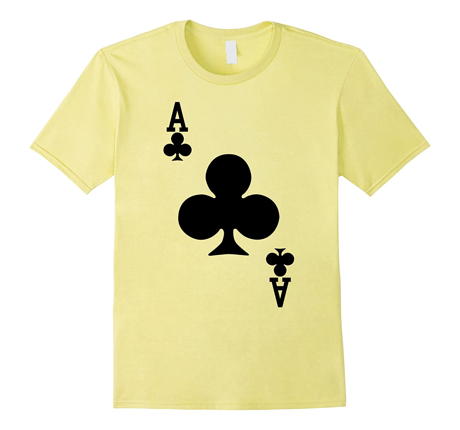 Ace of Clubs - Playing Card Halloween Costume T-Shirt-FL
