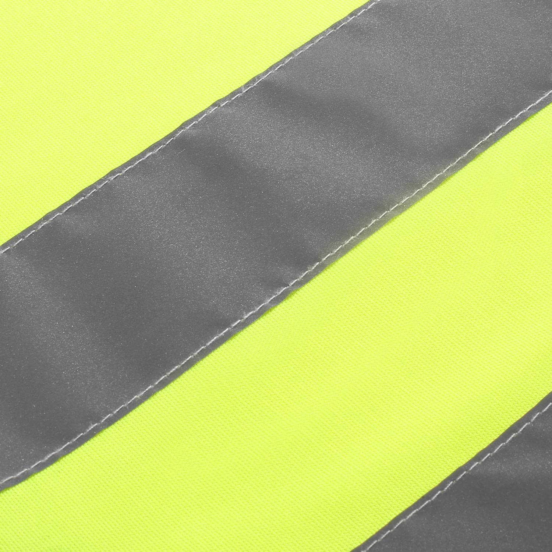 360 Grad Reflektierende Sicherheitsweste Gelb Universal Gr/ö/ße Schutz f/ür Jungs M/ädchen 50x45cm SHYOSUCCE 2 St/ück Warnwesten Kinder