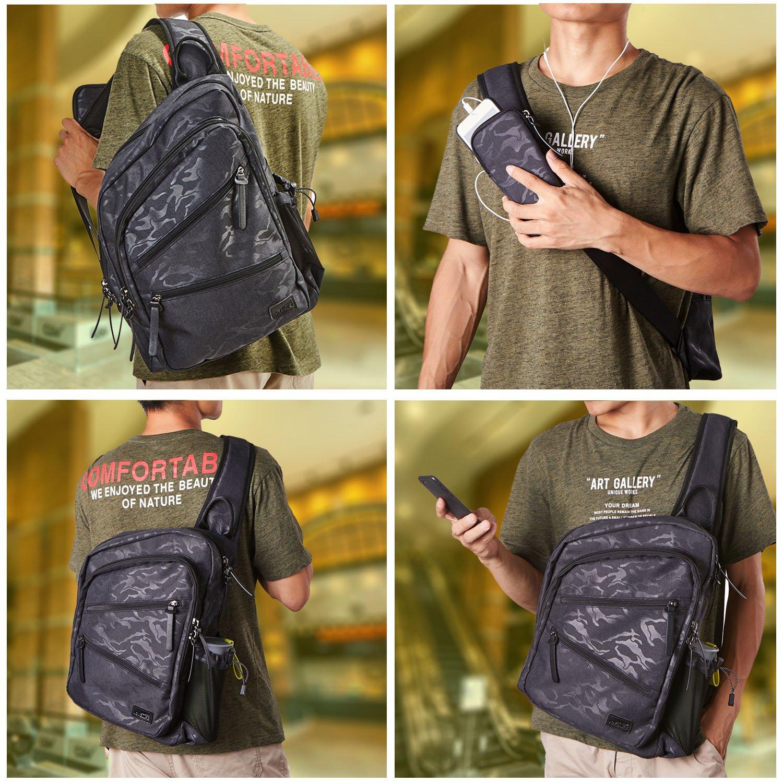 47d79b6240 TOPNICE Sling Bag Crossbody Shoulder Chest Back Pack Anti Theft Travel Bags  Daypack for Men Women larger image