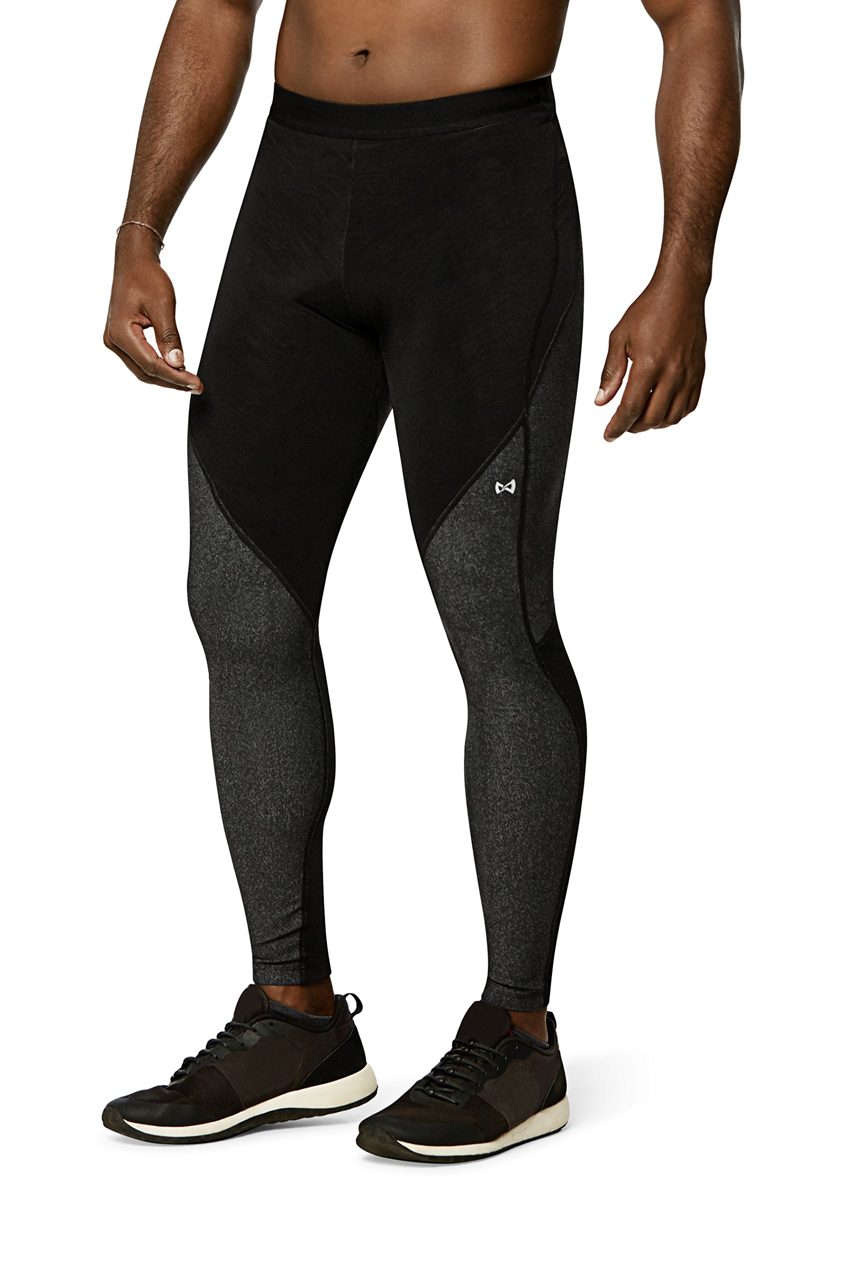Physiclo Pro Resistance Women's Compression Full-Length Tight Training Pants, Grey/Black, Small