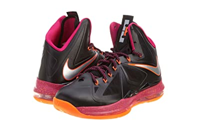 sale retailer 8a402 1759c Nike Lebron X (Floridian Away) Black Cherry-Vivid Orange (10.5)