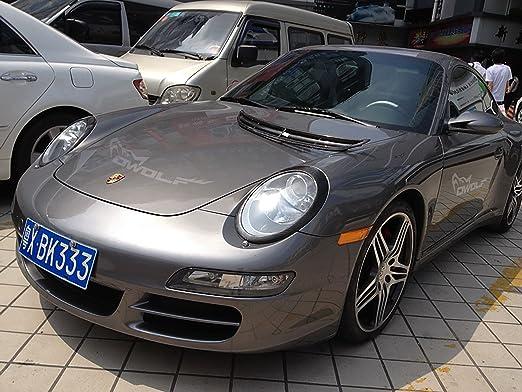 Para Porsche 911 Carrera/S Turbo 997 párpado Cejas de fibra de carbono cubierta del faro: Amazon.es: Coche y moto