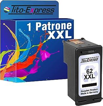 Tito-Express PlatinumSerie - Cartucho de Tinta Negro y Color XXL con Chip e indicador de Nivel Compatible con HP 62 XXL (03) 1 Patrone Black: Amazon.es: Electrónica