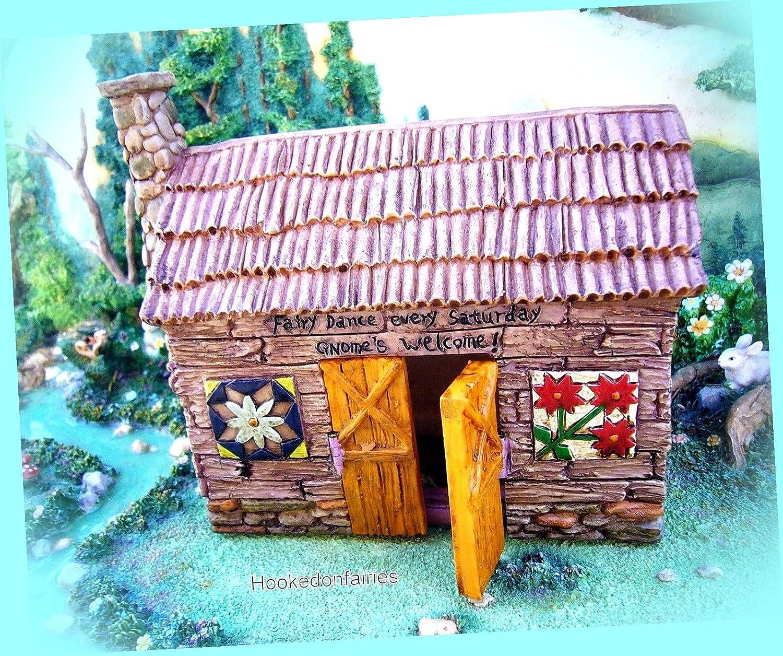 """Miniature Dollhouse FAIRY GARDEN ~ Small Mini 2/"""" High FARM Barn House ~ NEW"""