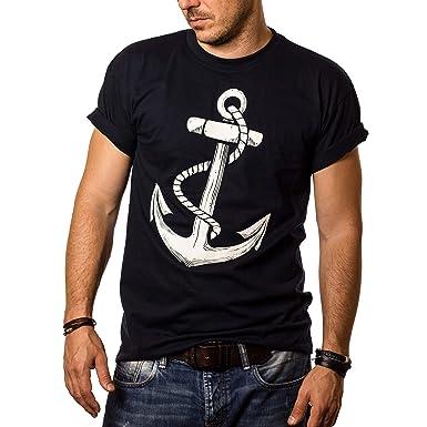 low priced ccd5f 9ecd7 Herren T-Shirt mit Aufdruck Anker Größe S-XXXL
