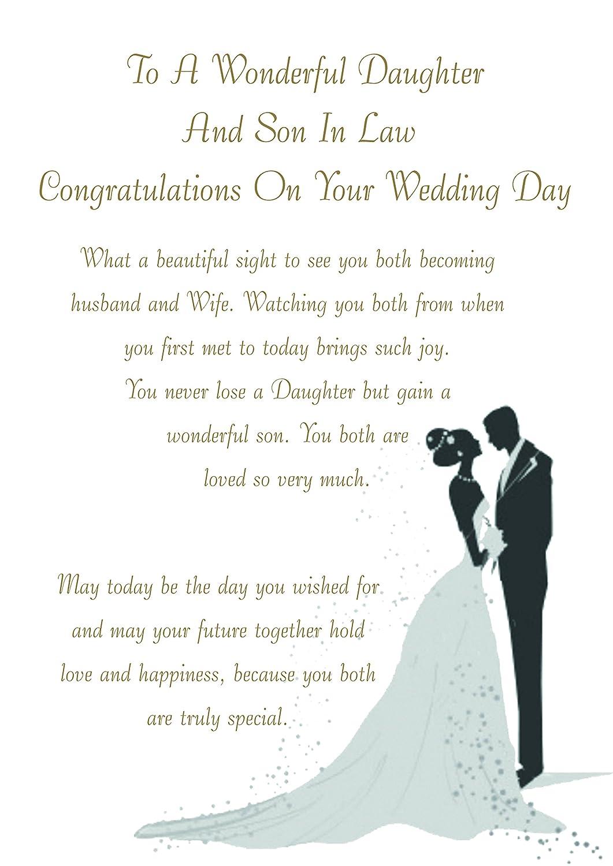 Daughter & Son-in-Law Wedding Card Zee Bee's