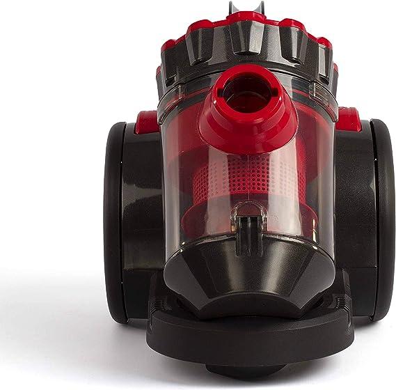 Domoclip Aspirador con Bolsa Multi-Cyclonique Rojo/Negro: Amazon ...