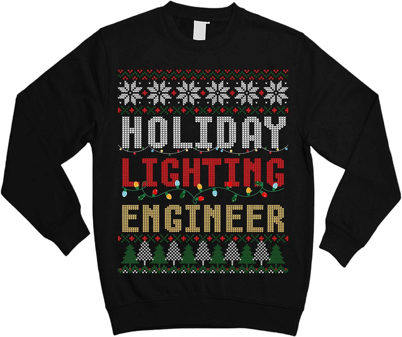 TeeYuh Christmas Light Holiday Lighting Engineer Ugly Xmas Sweater Sweatshirt