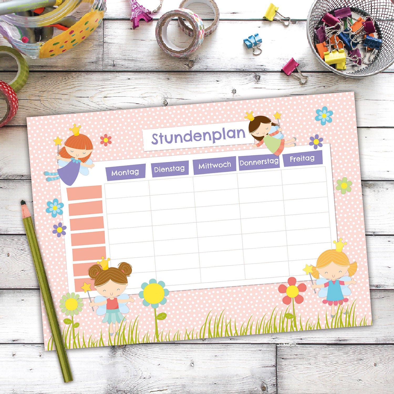 Terminkalender und Wochenplan Papierdrachen Stundenplan DIN A4 Block Motiv Eule beschreibbar Schule