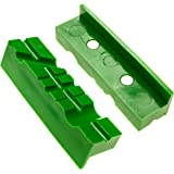 Vise Jaws / Vise Pads (Magnetic Multi-Groove Soft Jaws) - 4.5 Inch Length, TPU Jaw Covers - Fit Wide Array of Vises / Vices and Vise Blocks