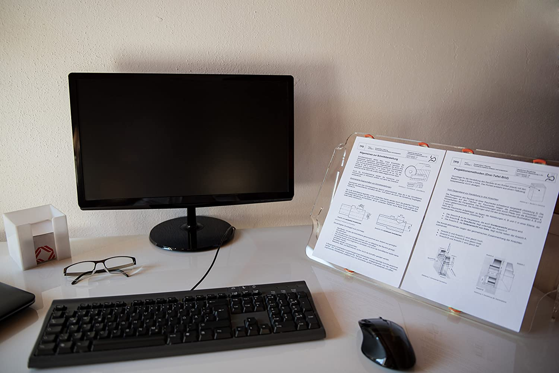 Dokumentenablage Ergo Pult Dokumentenhalter Papier Ablage Notebook St/änder Orgapult light Vorlagenhalter