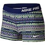 Nike Women's Pro Cool 3-Inch Training Shorts (Blue/Purple/Green/Small)