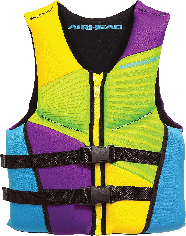 Airhead Adult Gnar Kwik-Dry NeoLite Flex Life Vest, 3XL, Multi-Color (10074-13-B)