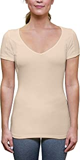 product image for Thompson Tee Sweat Proof Undershirts with Underarm Sweat Pads, Slim, Deep V-Neck