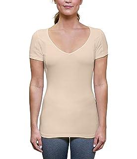 64c635fb977 Sweatproof Undershirt for Women with Underarm Sweat Pads (Slim Fit