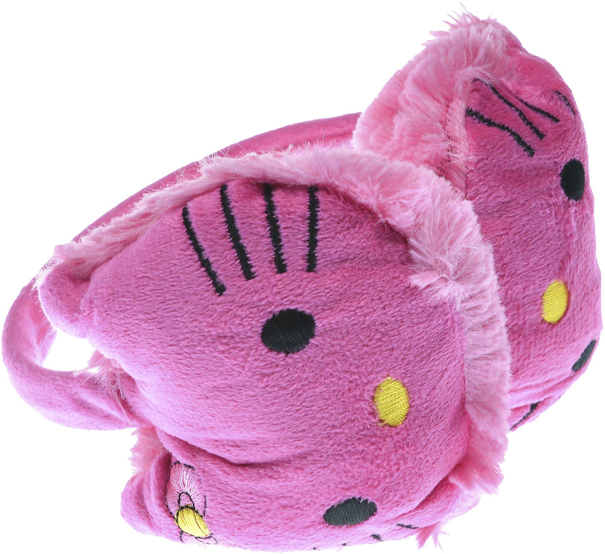 Hand By Hand Aprileo Girl Hello Kitty Earmuff Ear Warmer Animal Faux Fur [Deep Pink.](One Size)