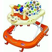 Goyal's Monkey Baby Walker - Music & Light Function With Adjustable Height (Orange)
