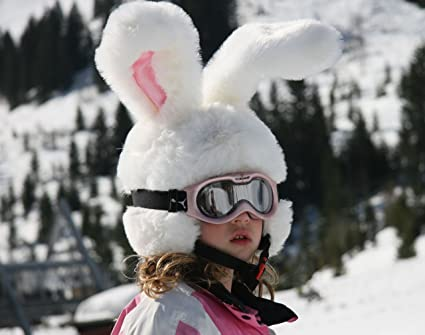 db7bfad84c30f Amazon.com   Rabbit Ski Helmet Cover for Kids   Adults. Crazy Large  Flexible Ears   Sports   Outdoors