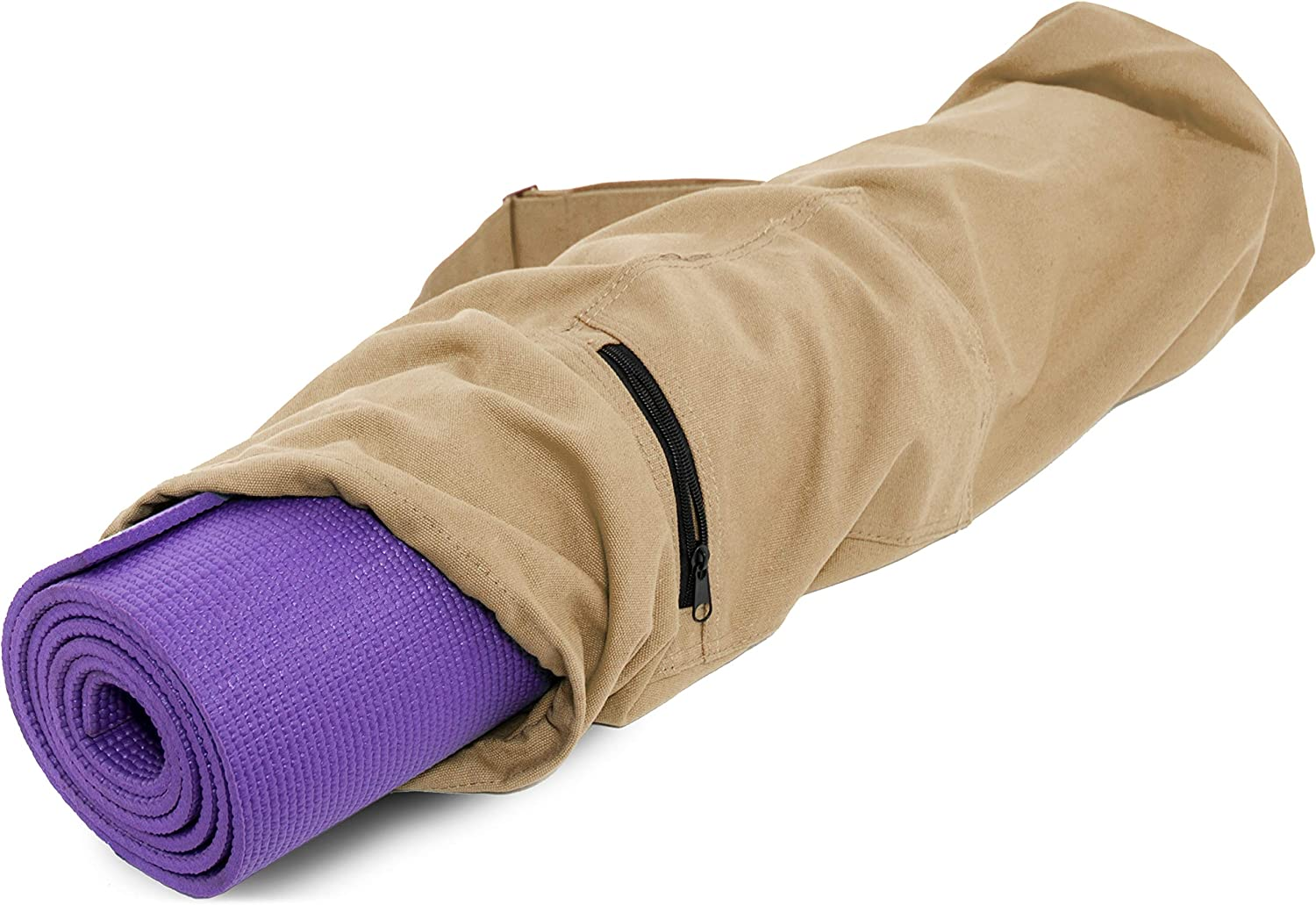 ProsourceFit Yoga Mat Bag with Side Pocket and Cinch Top, 28