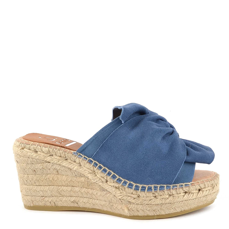 Kanna Aus Schuhe Capri Sandalen Aus Kanna Wildleder Blau Damen Blau 8c479c