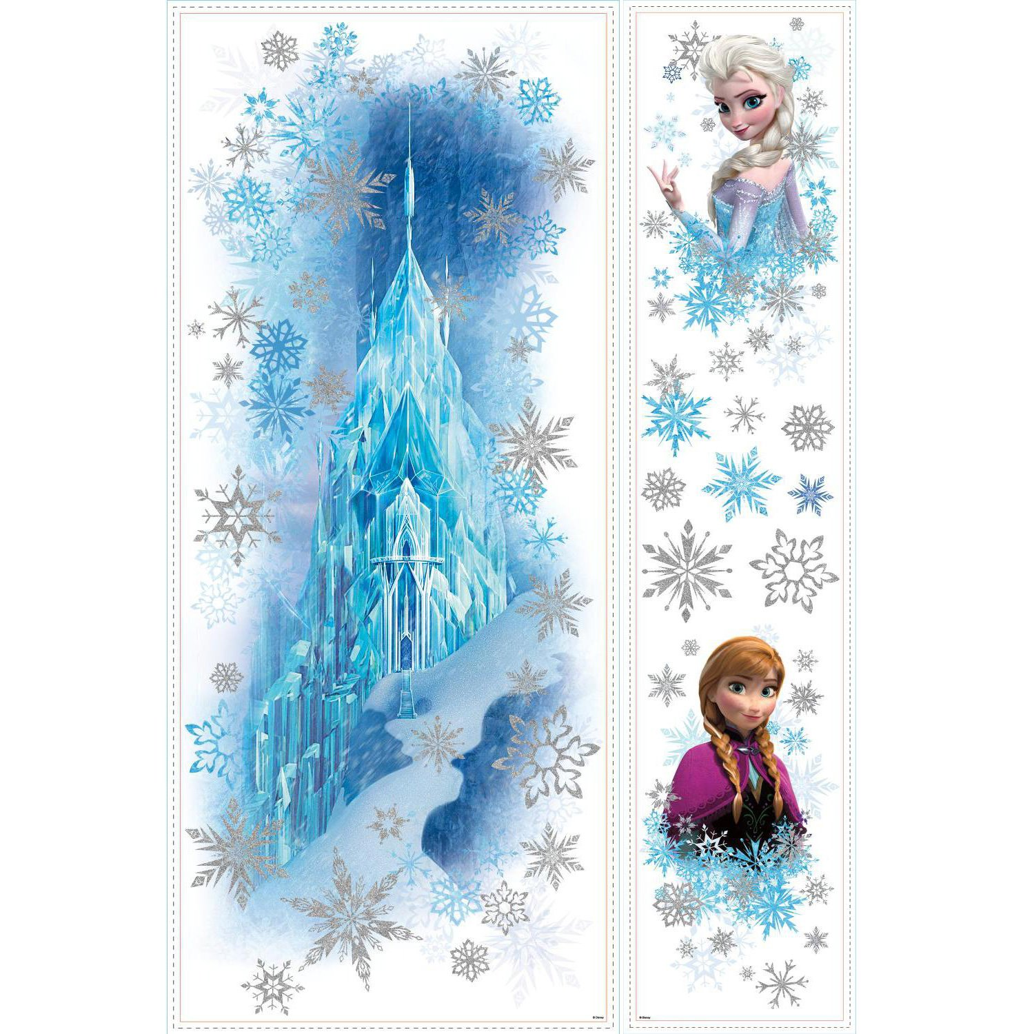 RoomMates Frozen Ice Palace Childrenu0027s Repositionable Wall Stickers,  Multi Colour: Amazon.co.uk: Kitchen U0026 Home Part 75
