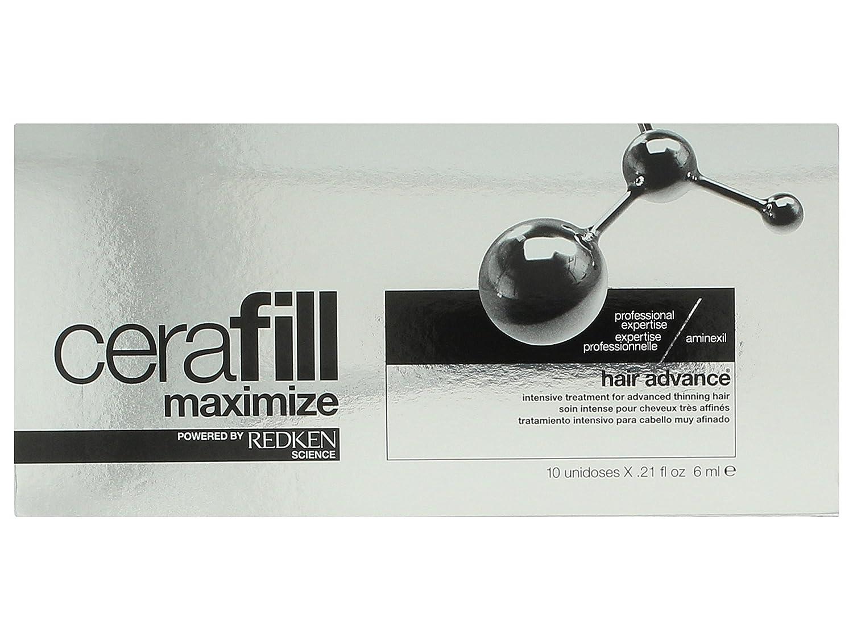 Redken Cerafill Maximaze Aminexil Intensive Treatment 10x6ml - 60 ml: Amazon.es: Belleza