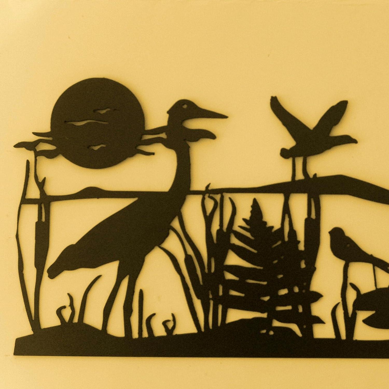 Amazon.com: Crane,Metal Art,Seascape Metal Wall Art,Nautical ...