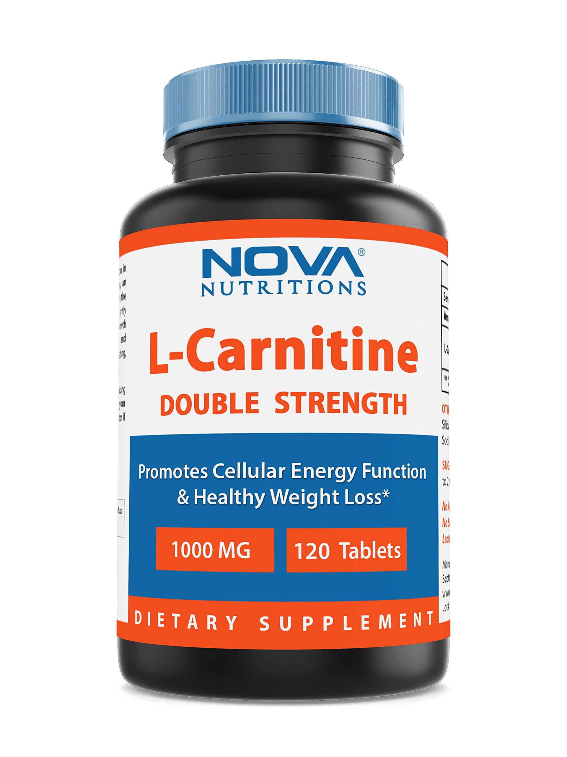 Nova Nutritions L-Carnitine 1000 mg 120 Tablets