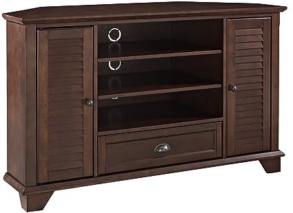 Charmant Crosley Furniture Palmetto 50 Inch Corner TV Stand   Vintage Mahogany